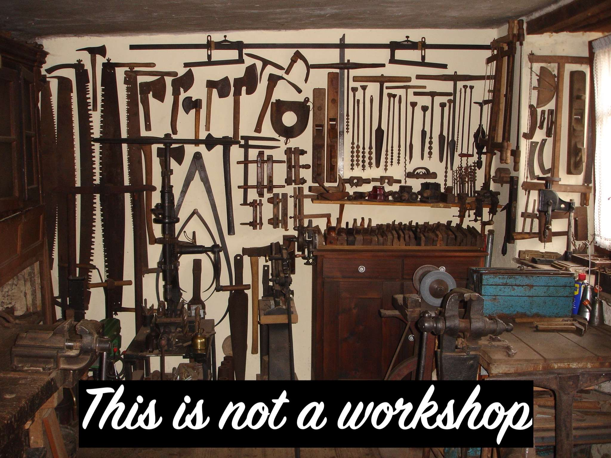 This is not a workshop. Why don't we get workshopping right?