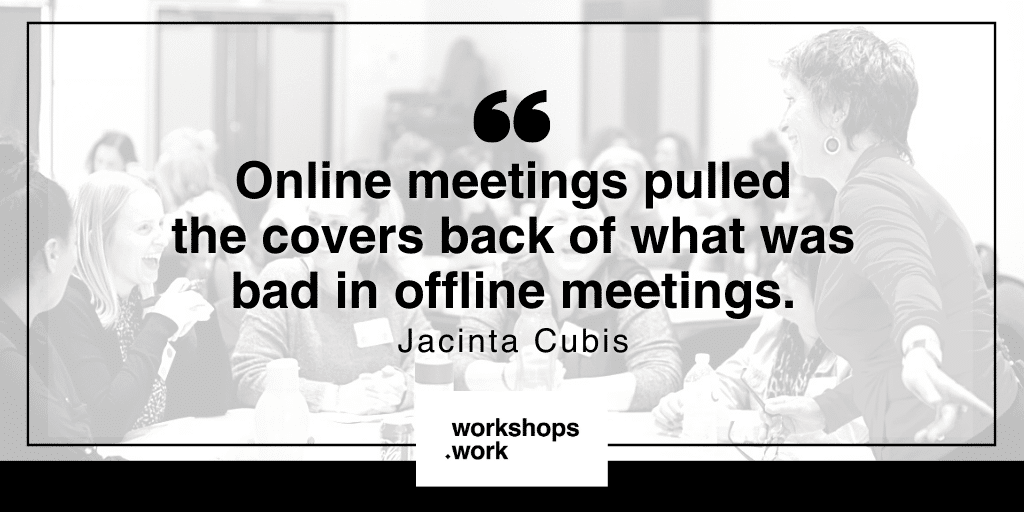 Use analogue prompts for better online meetings with Jacinta Cubis